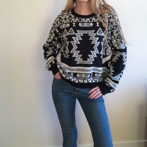 Urban Outfitters BDG Aztec Crew Neck Sweater